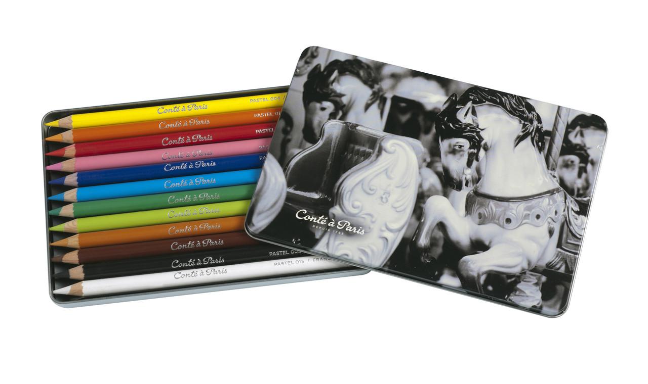 Conte Pastel Pencil 12pc Set