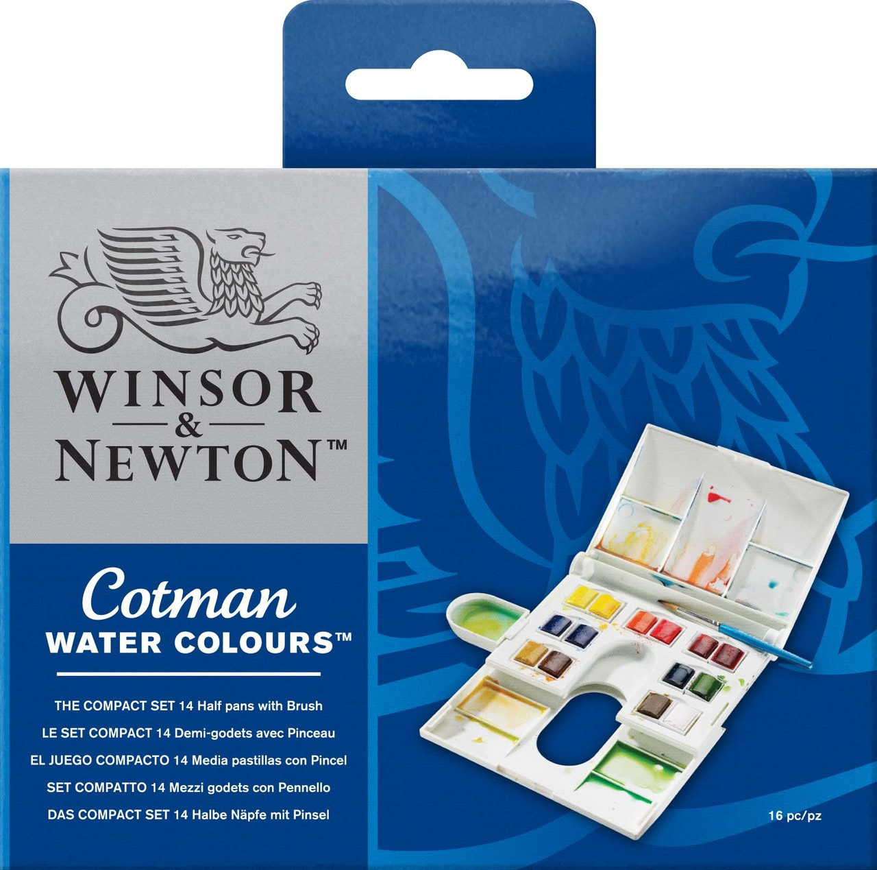 W&N Cotman Compact Set w/ Brush 16pc