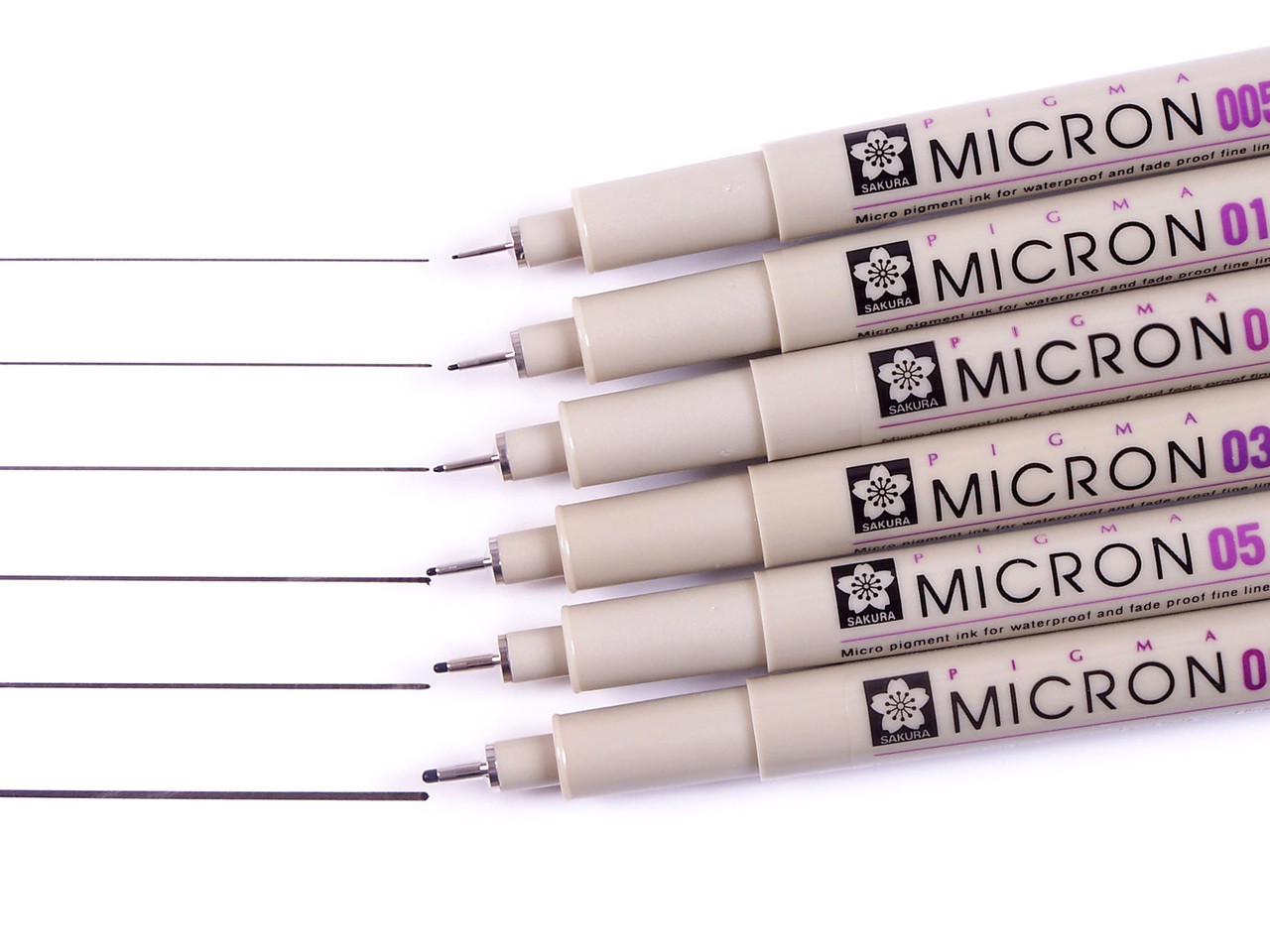 Micron 6pc Black Set