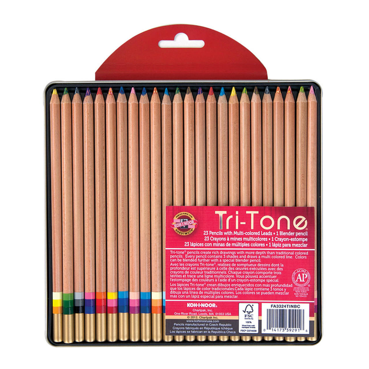 Tritone Pencil Tin 24-color Set