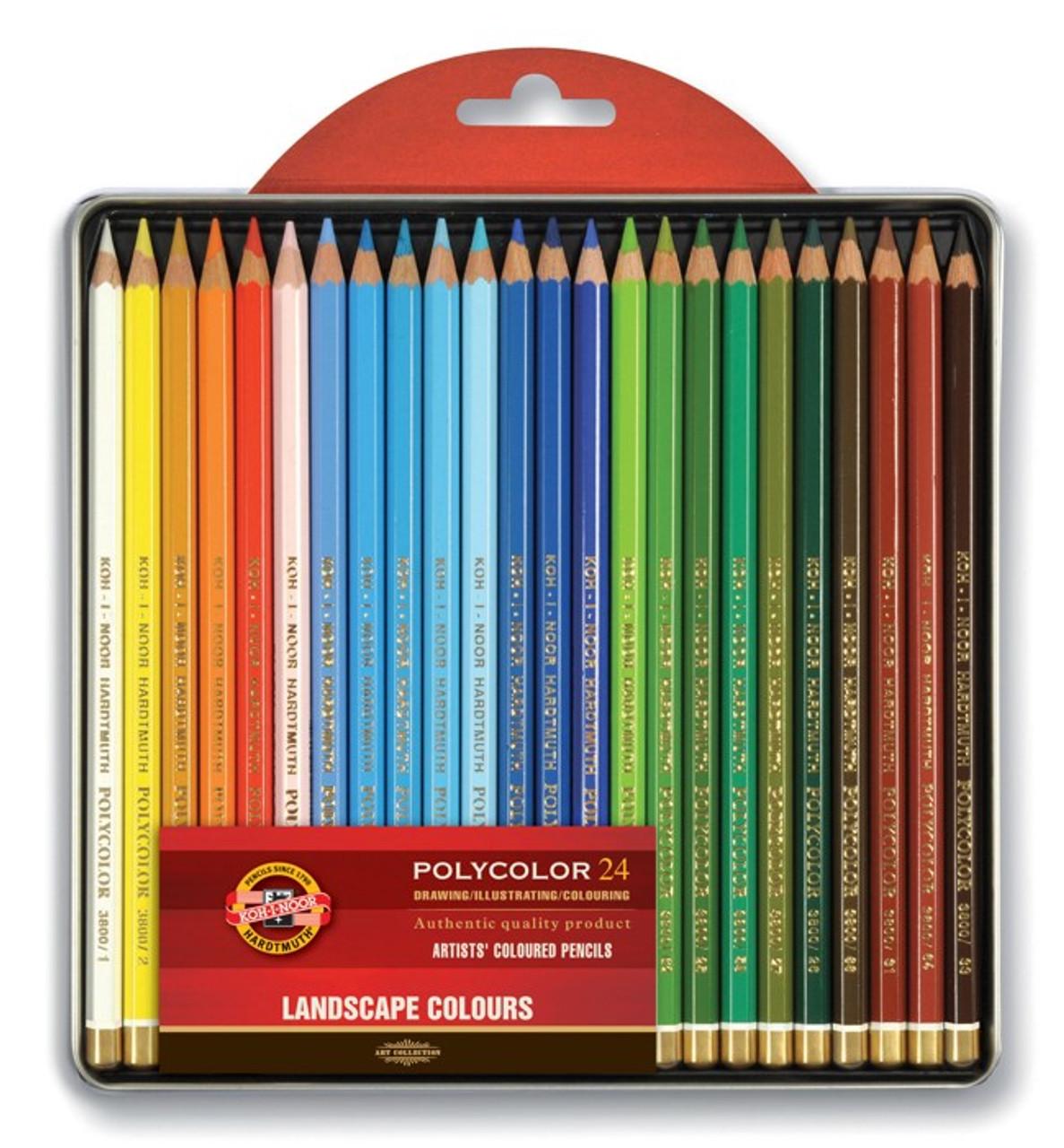 Koh-I-Noor Polycolor Pencil Tin 24-color Set