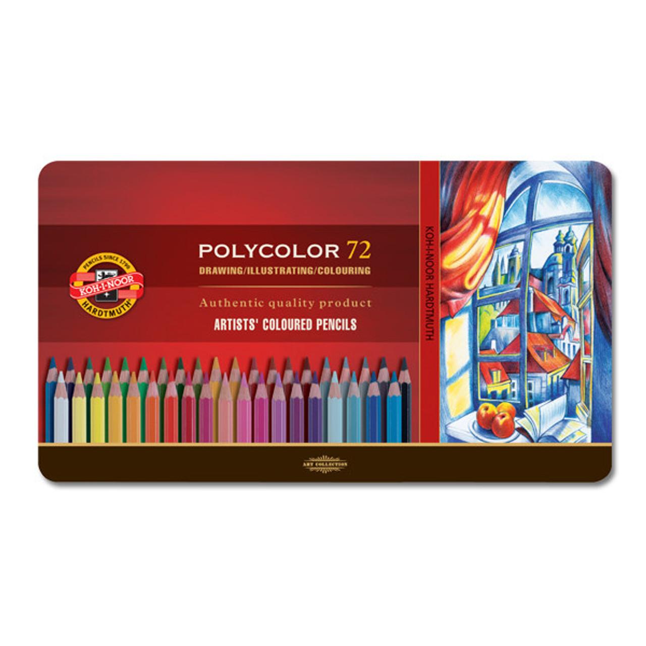 Koh-I-Noor Polycolor Pencil Tin 72-color Set