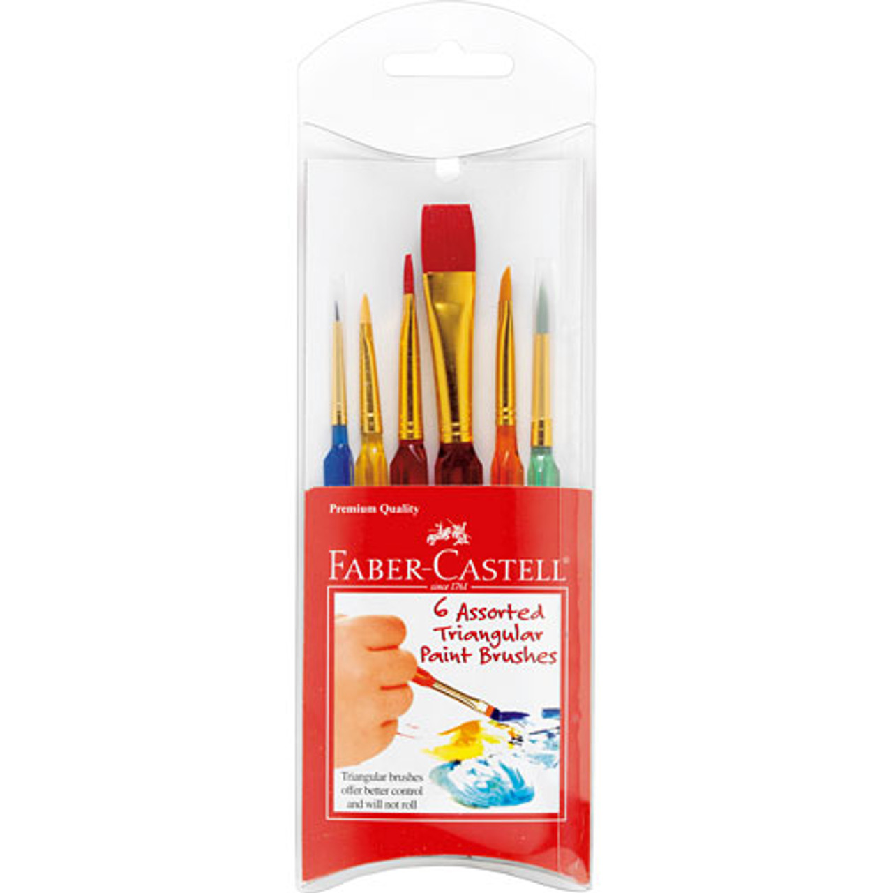 Triangle Paintbrush Set 6pc.