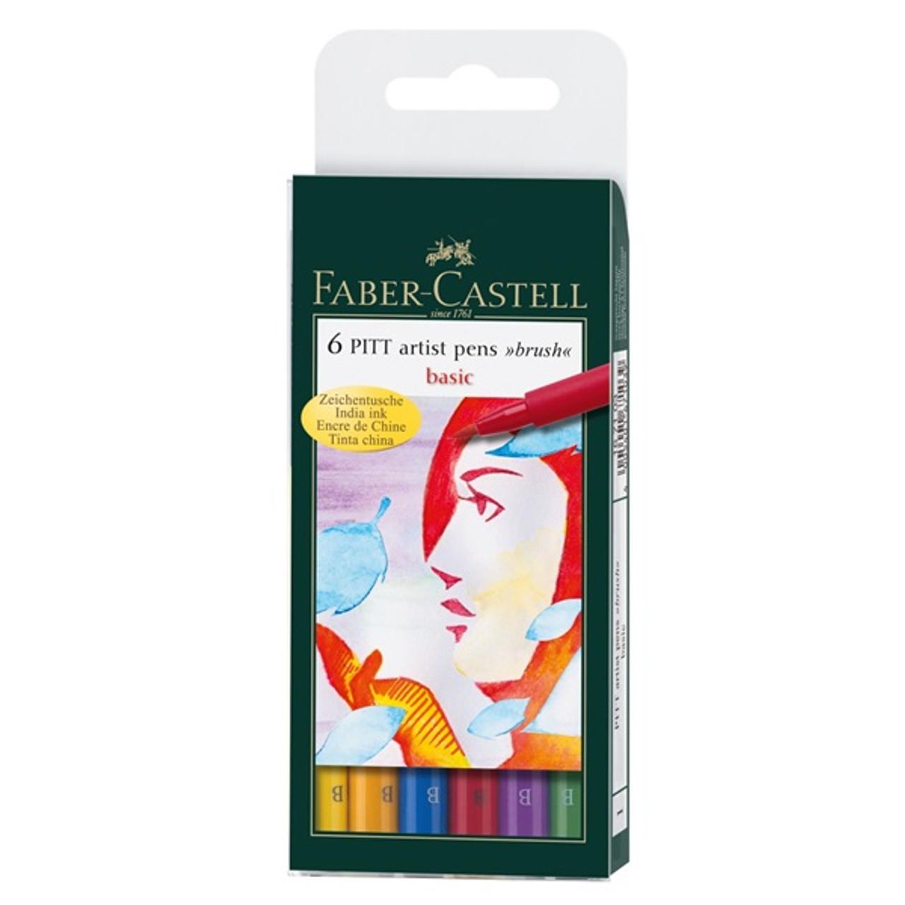 Pitt Pen Basic Brush 6pc