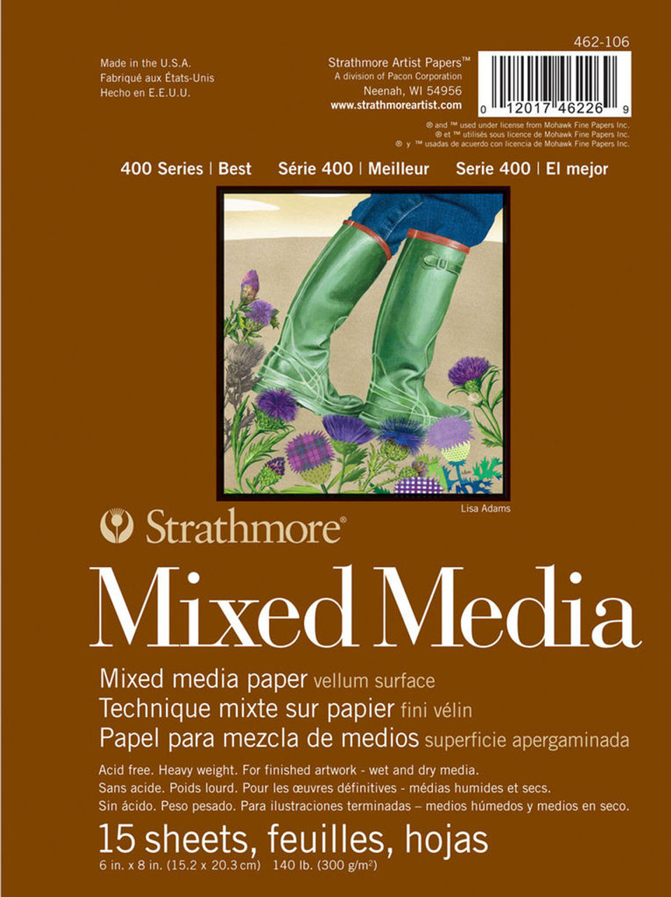 Strathmore 400 Series Mixed Media Pad 6x8