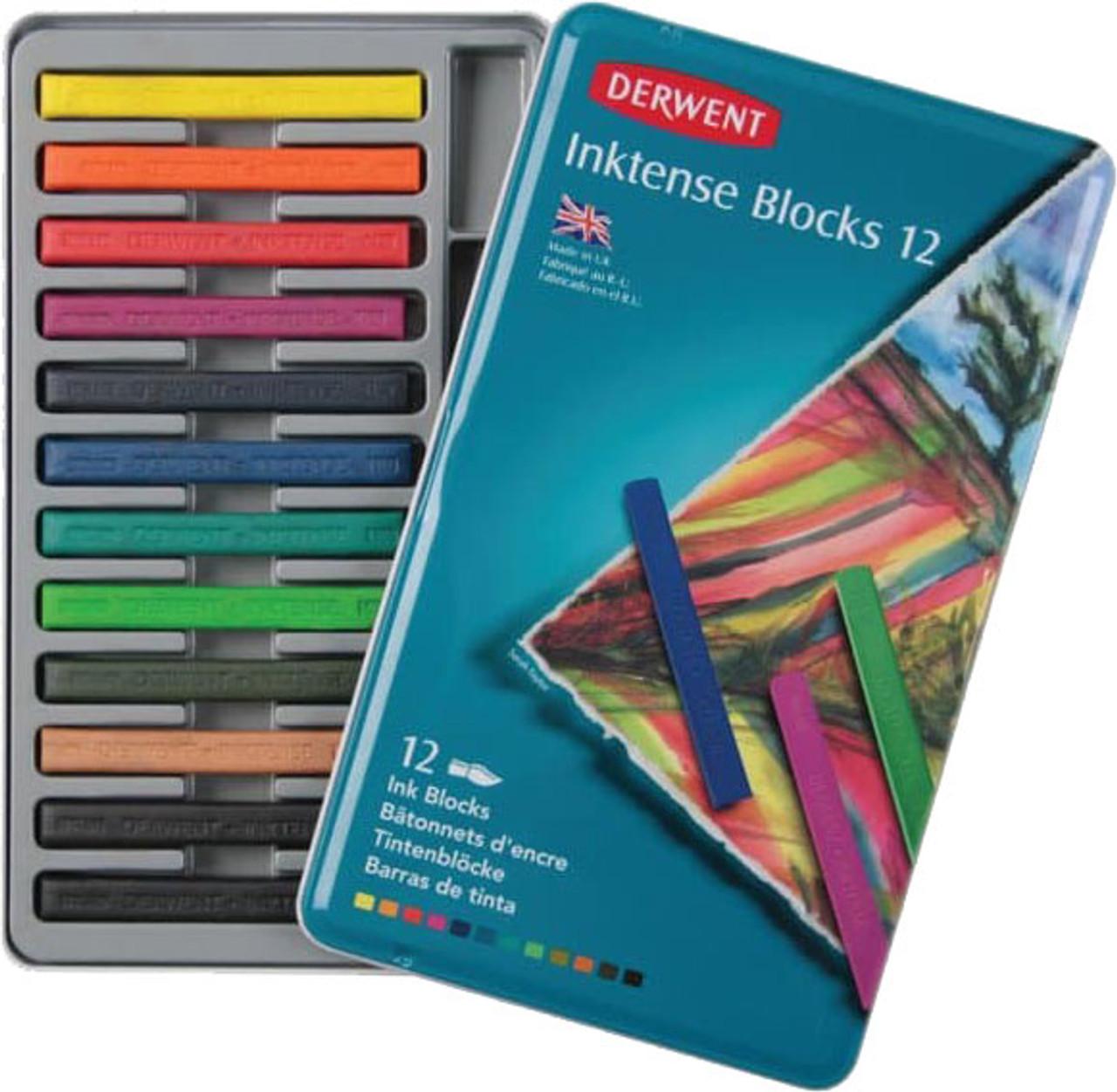 Derwent Inktense Blocks 12pc Tin Set
