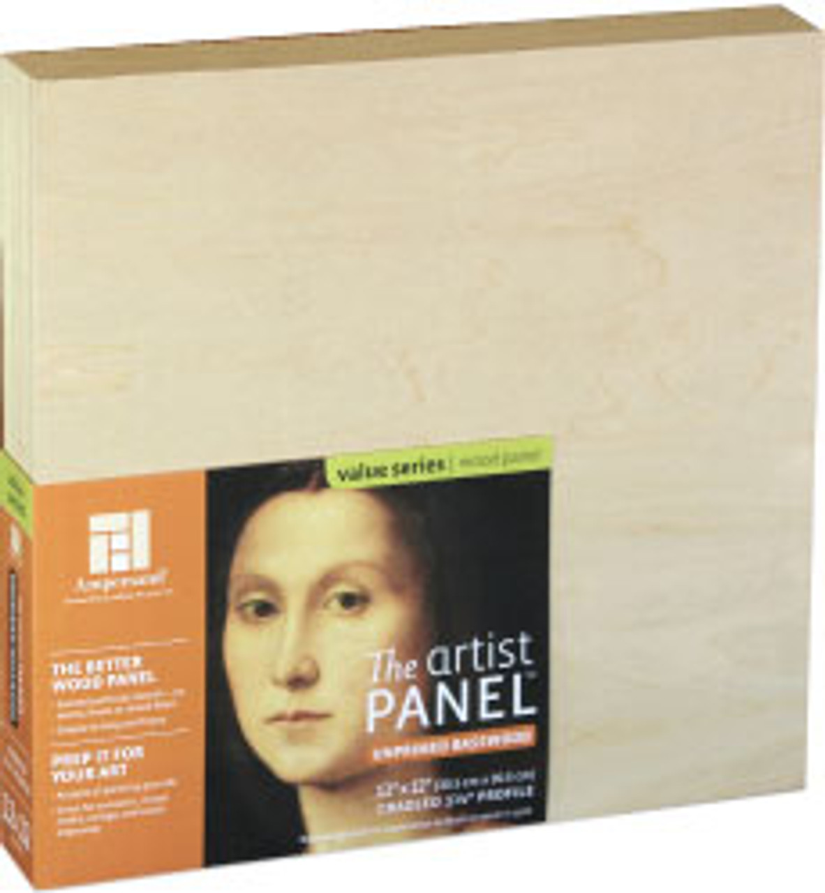 Ampersand Basswood Panel Cradled 12x12