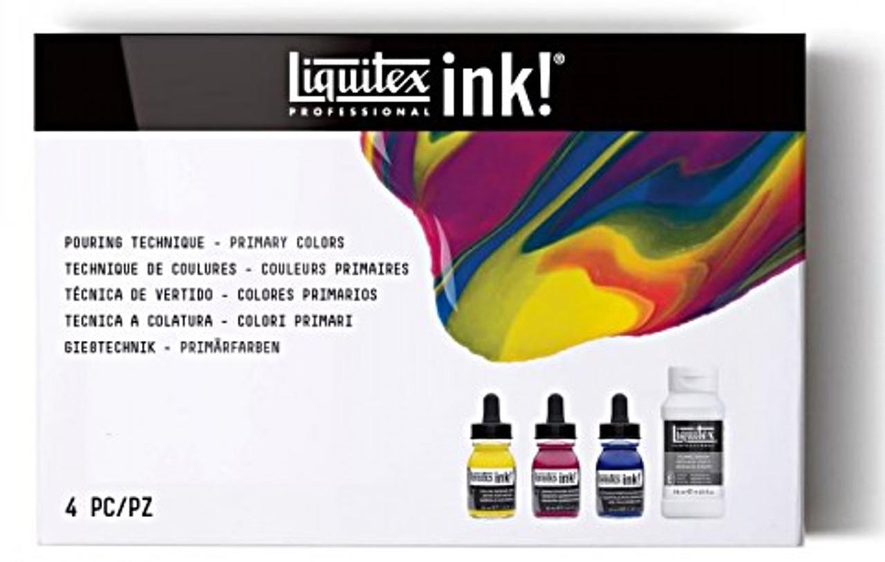 Liquitex Ink/Pouring Media Set Explore Primary Colors