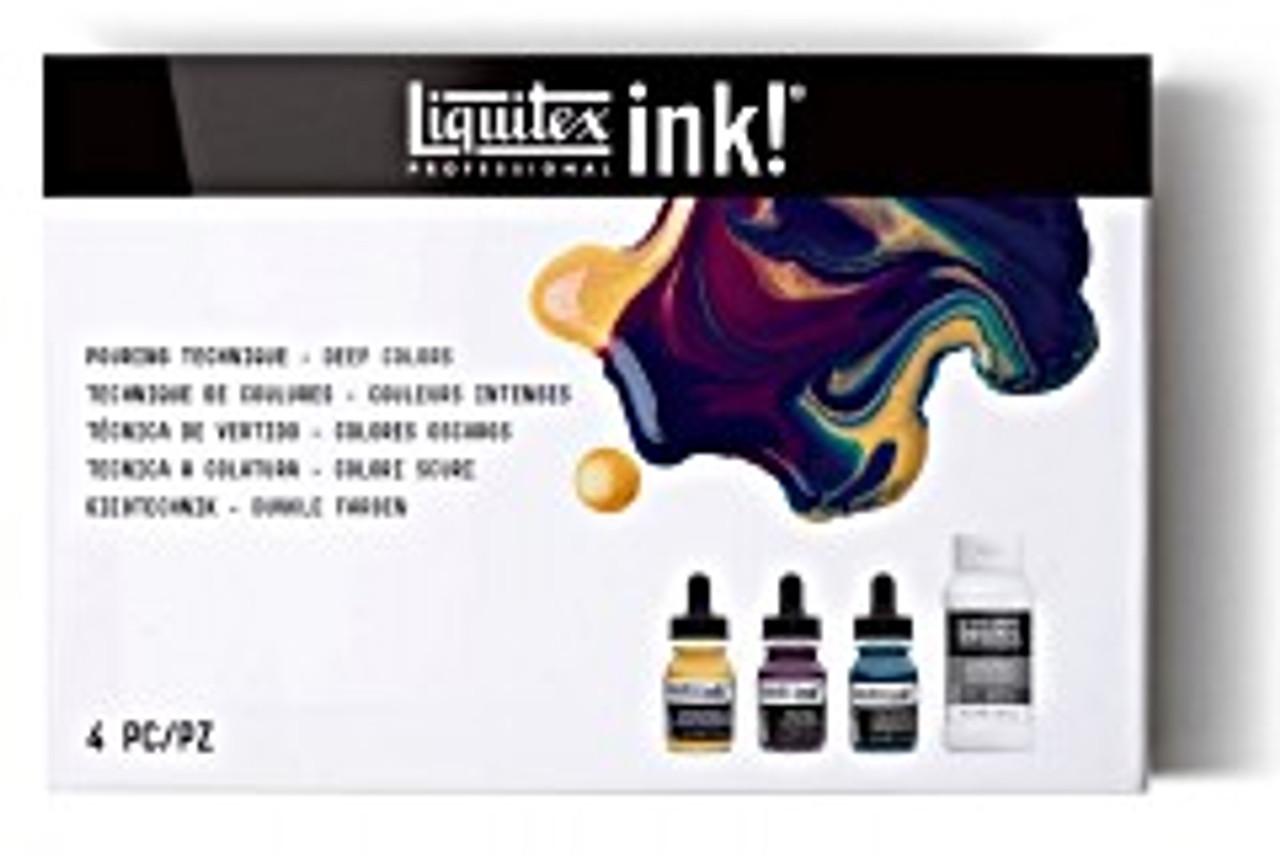 Liquitex Ink/Pouring Media Set Explore Deep Colors