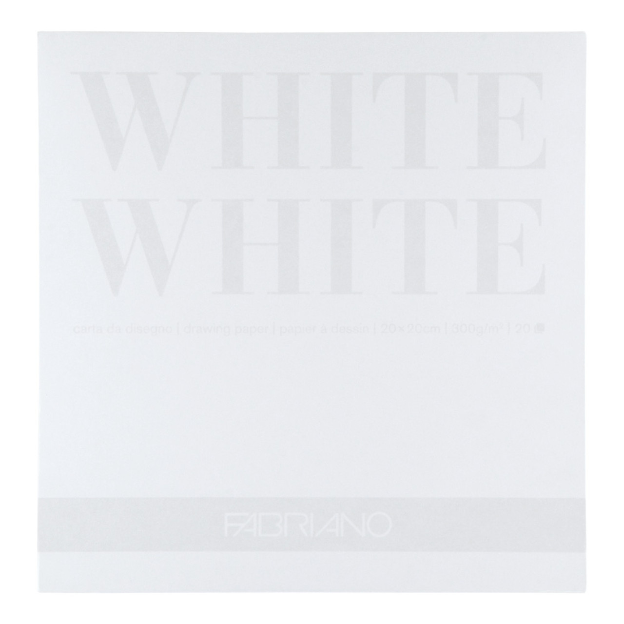 Fabriano White White Pad 9.5x12.5 300gsm 20 pages