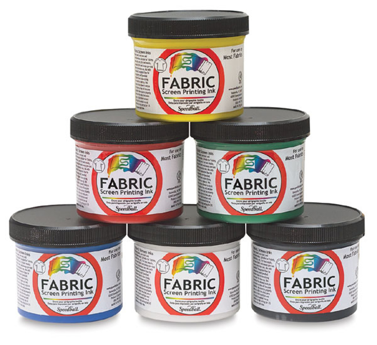 Screen Printing Opaque Fabric Starter Set 6pc