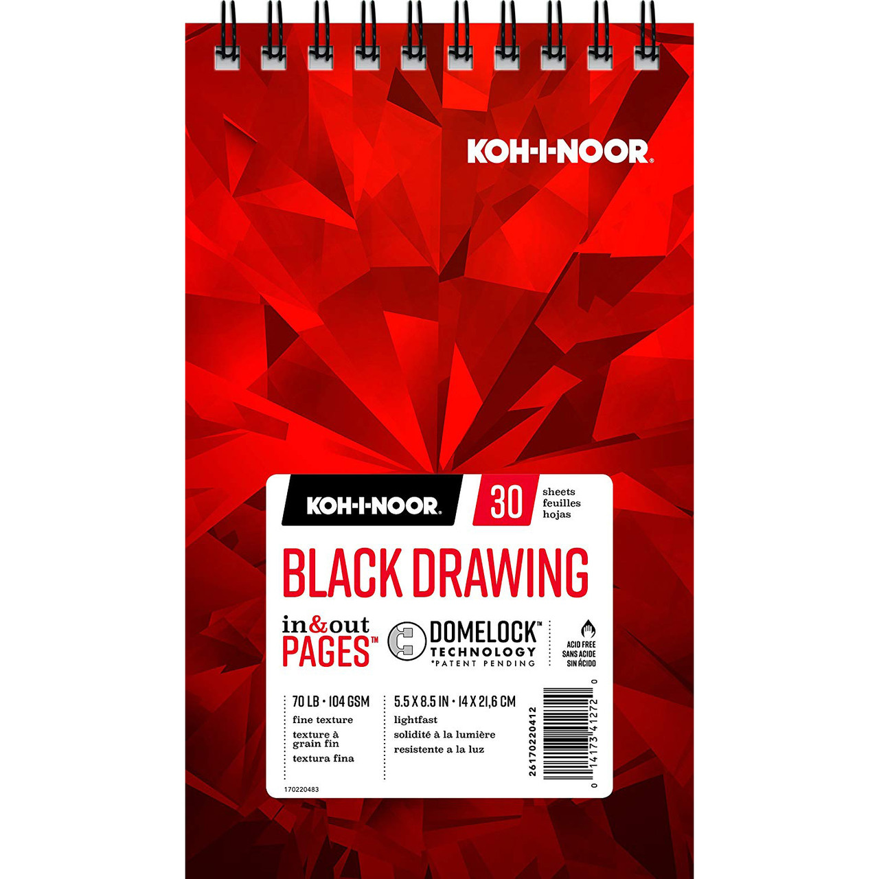 Koh-I-Noor Black Drawing Pad 5.5x8.5