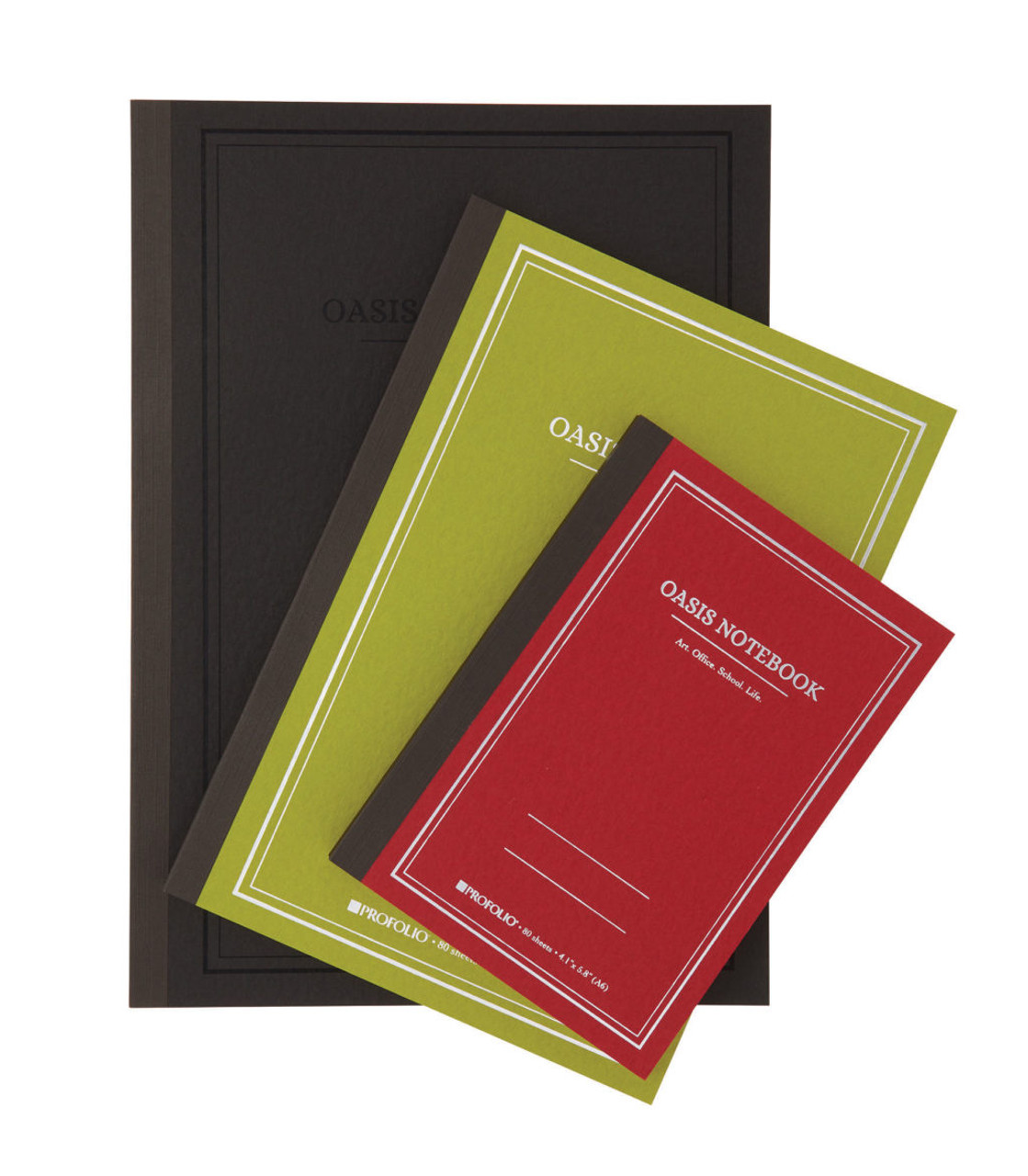 Oasis Notebooks: Black, Avocado, Brich