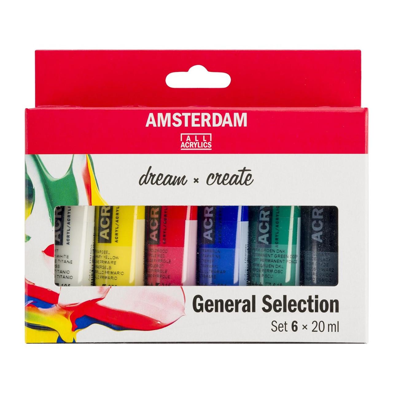 Amsterdam Standard Series Acrylic Paint 6-20ml Set