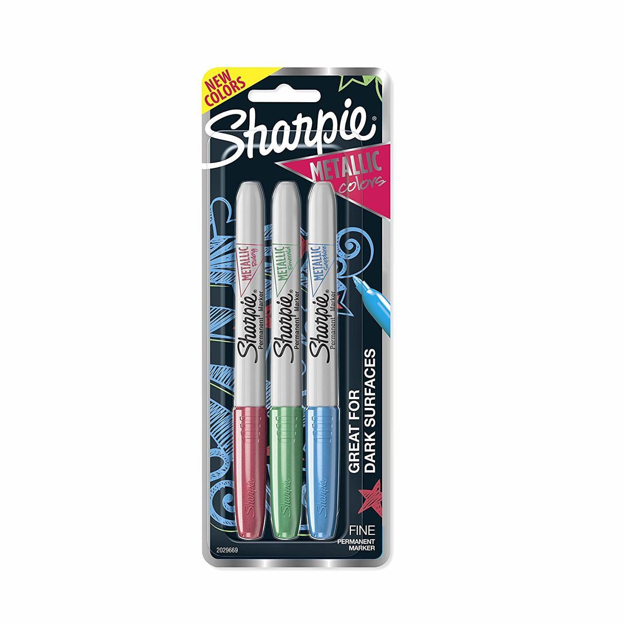 Sharpie Metallic Fine Point Set 1: Ruby, Emeral, Sapphire