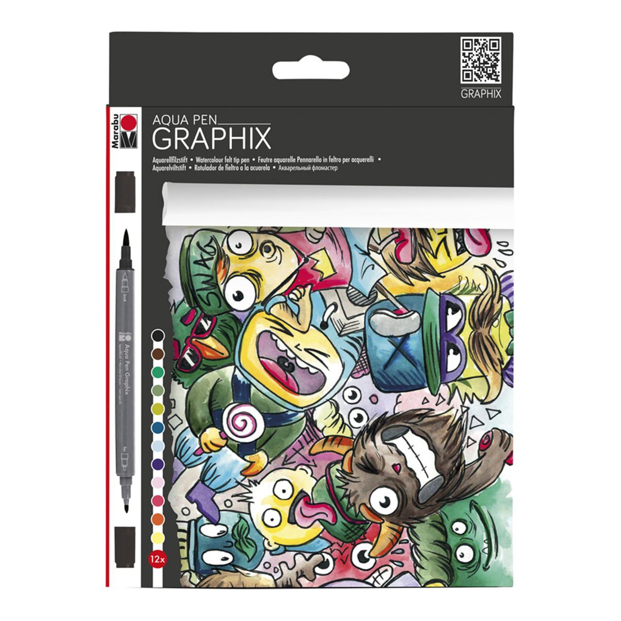 Graphix Aqua Pen Mega Mash 12pc Set