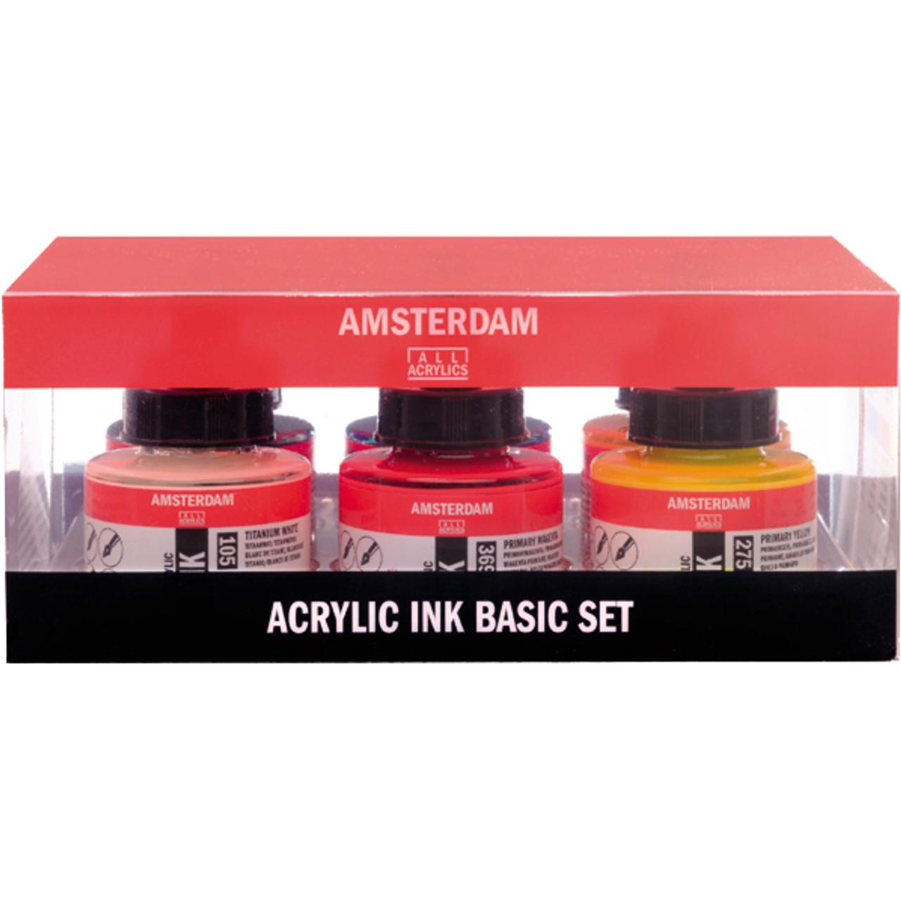 Amsterdam Acrylic Ink Basic Set