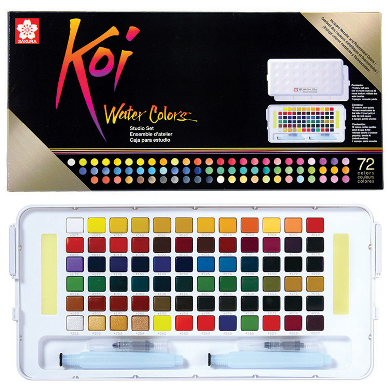 KOI Watercolor Studio 72-color Set