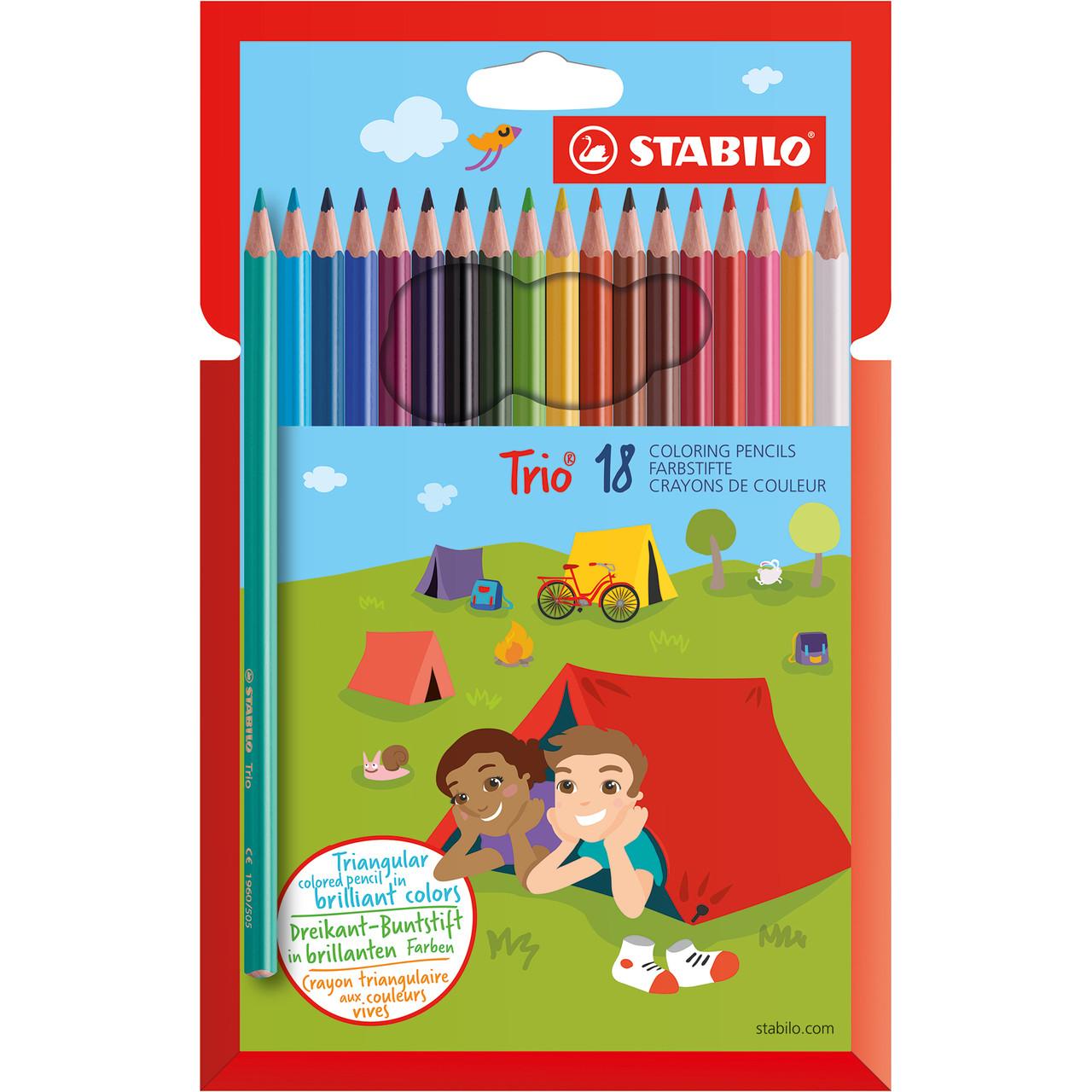 Stabilo TRIO Pencil 18-color Set