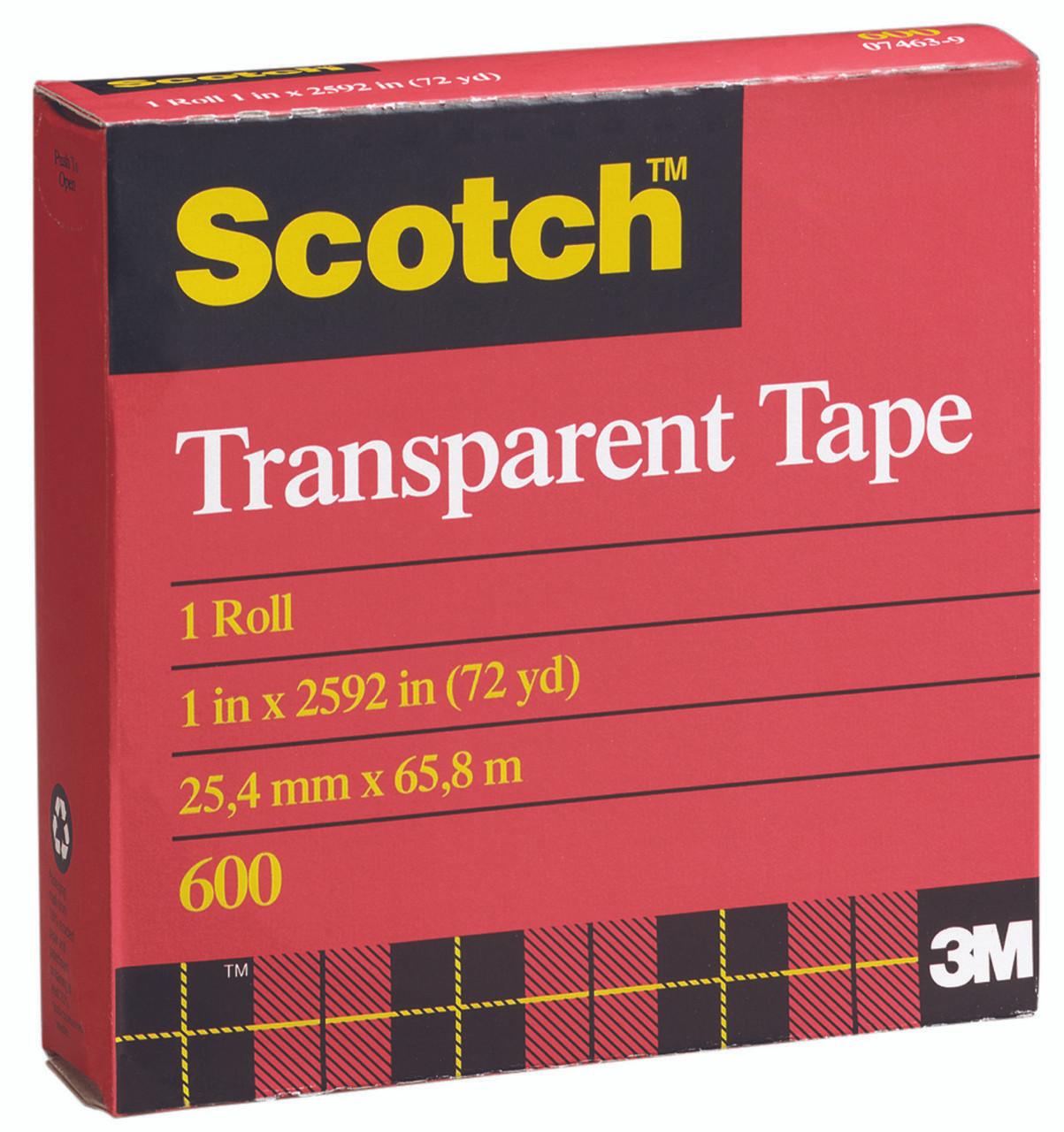 3M Scotch Transparent Tape 600