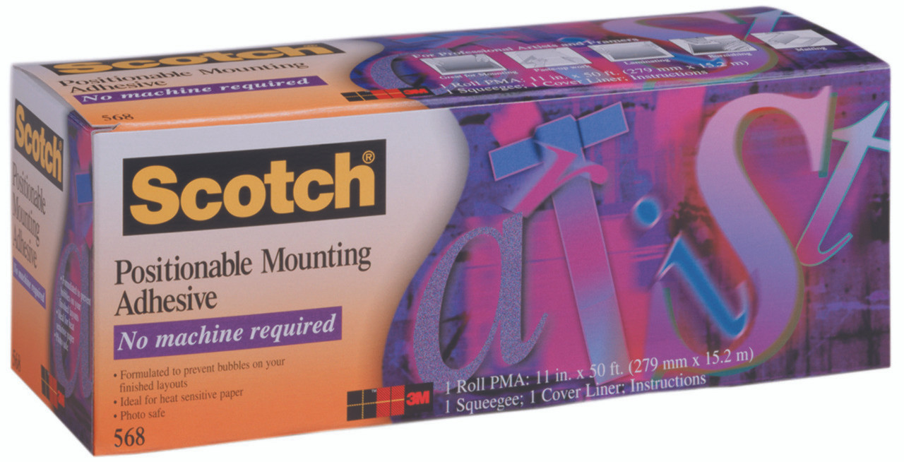"Mounting Adhesiveesive 568AF 11""x50ft"
