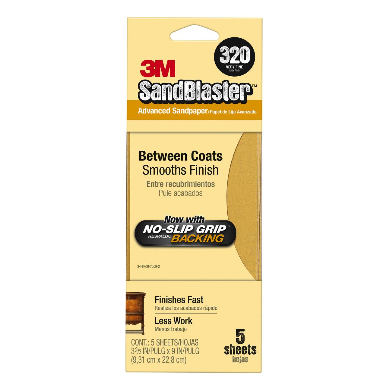 Sandpaper 11320 Btwn Coat 320 5pk