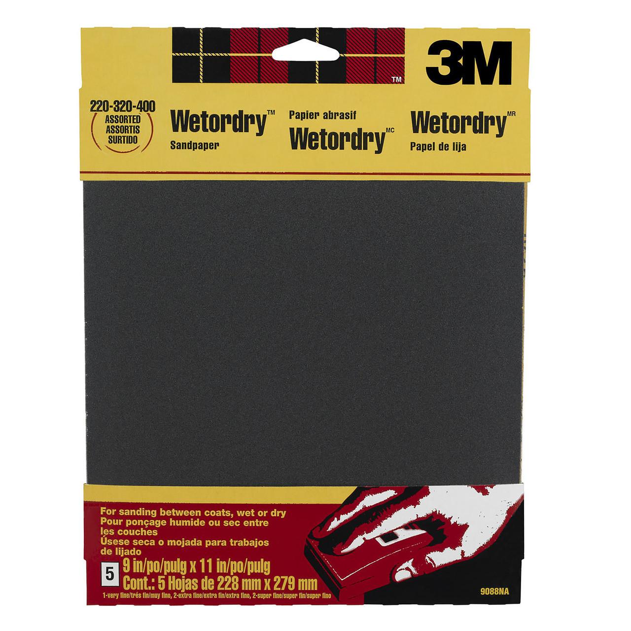 Sandpaper Wet/Dry Asst 9088NA 9x11