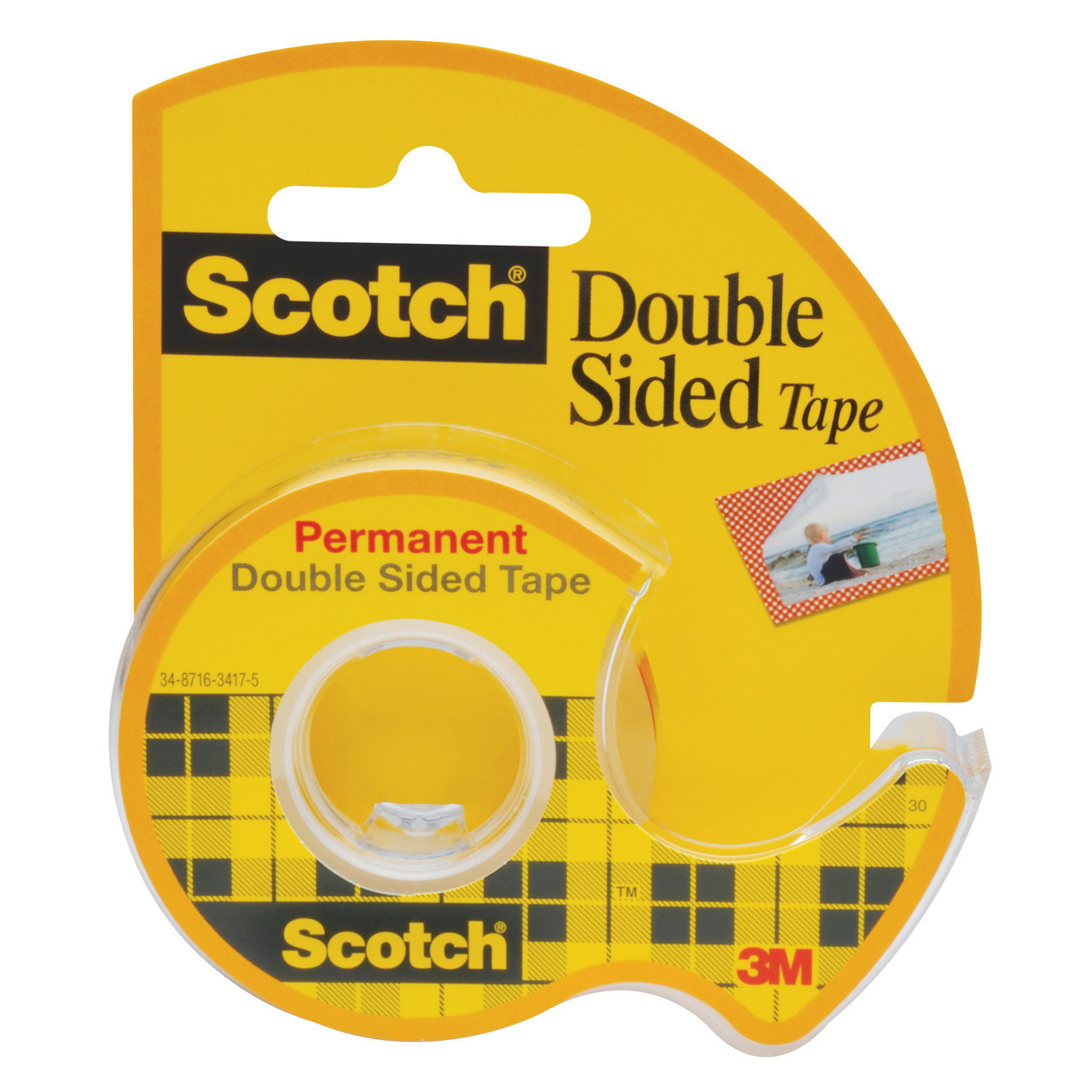 Tape 136A Double Ct w/Dispenser 1/2x250