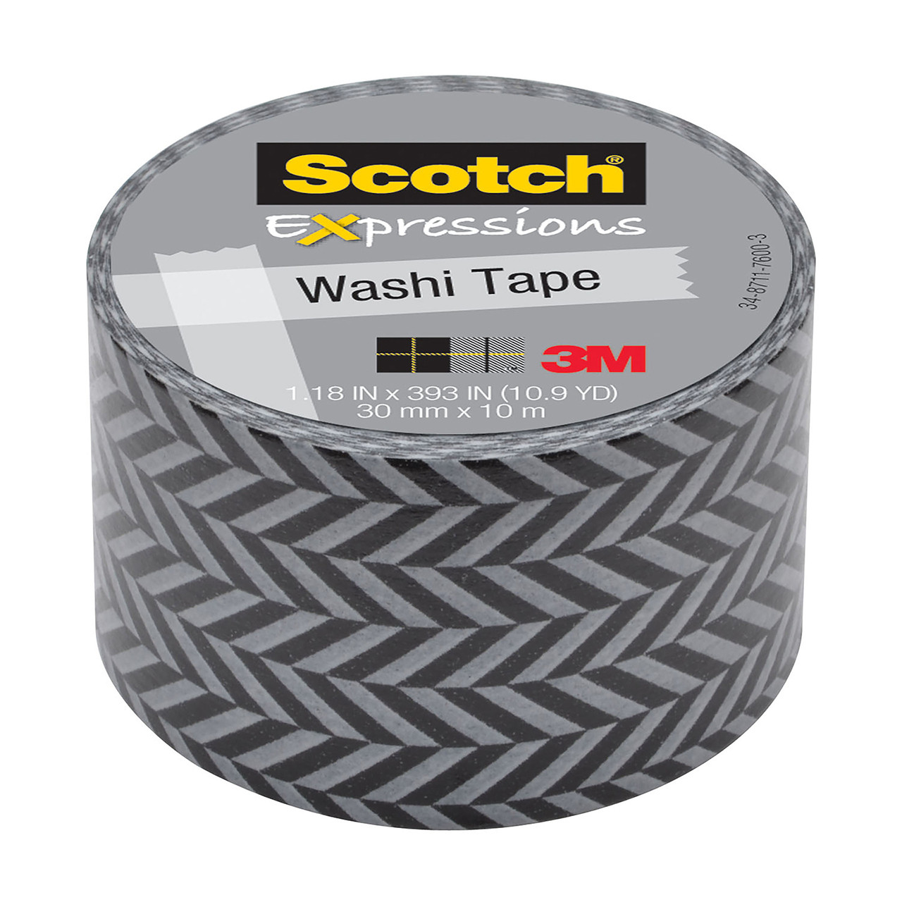 Washi Tape Zigzag 1.18inx393in