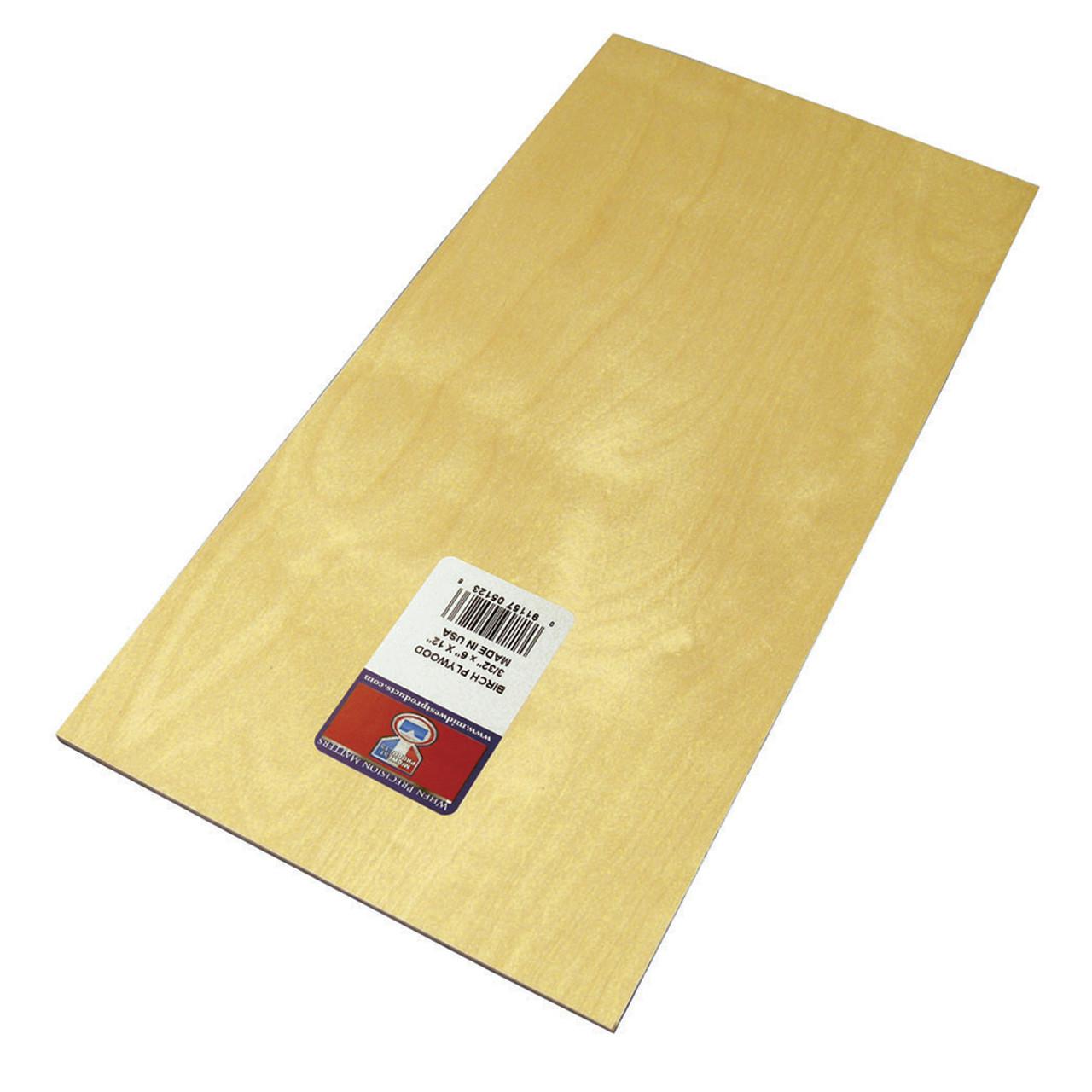 "Aircraft Grade Birch Thin Plywood Sheet .09"" x 6"" x 12"""