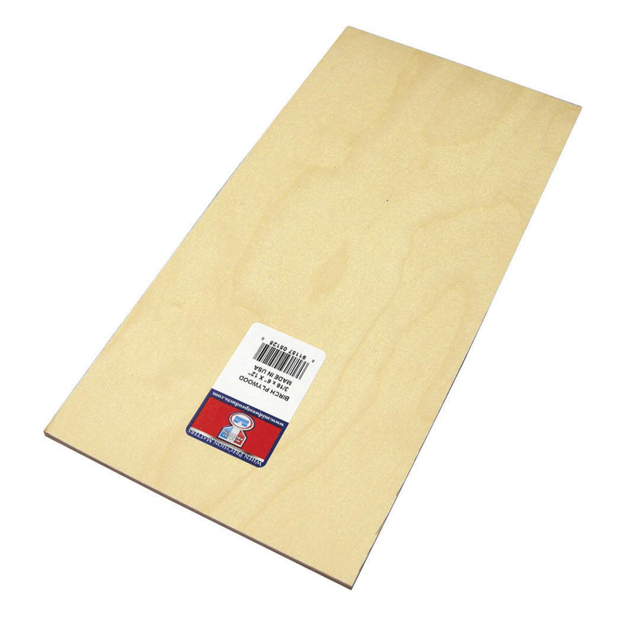 "Model Birch Thin Plywood Sheet .19"" x 6"" x 12"""