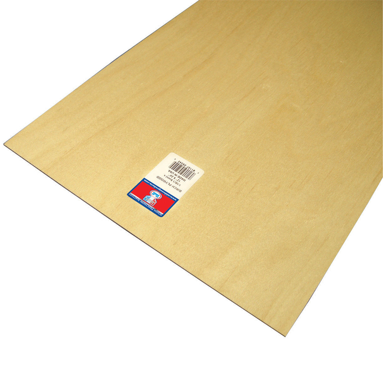 "Aircraft Grade Birch Thin Plywood Sheet .06"" x 12"" x 24"""