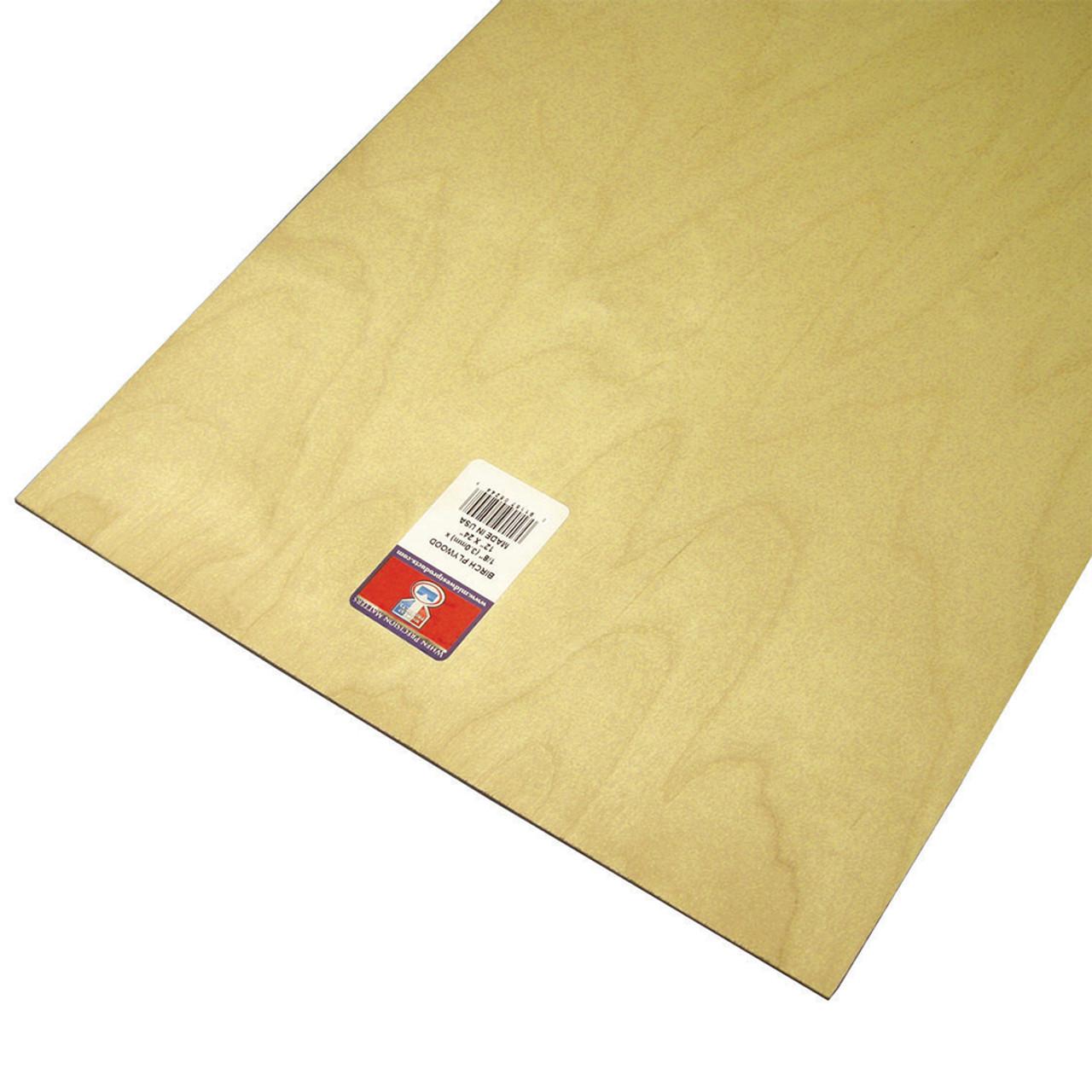 "Aircraft Grade Birch Thin Plywood Sheet .125"" x 12"" x 24"""