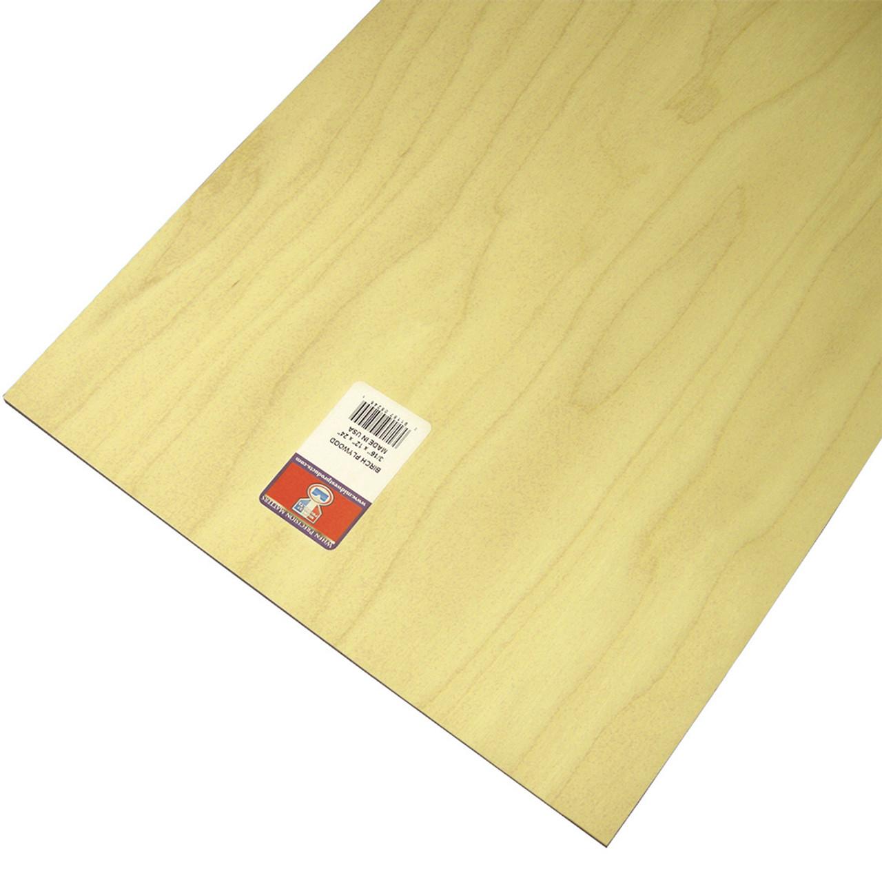 "Model Birch Thin Plywood Sheet .19"" x 12"" x 24"""