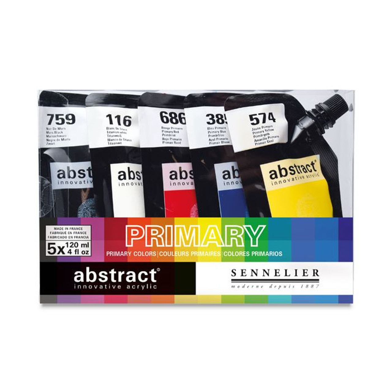 Sennelier Abstract Acrylic 5-color Primary Set