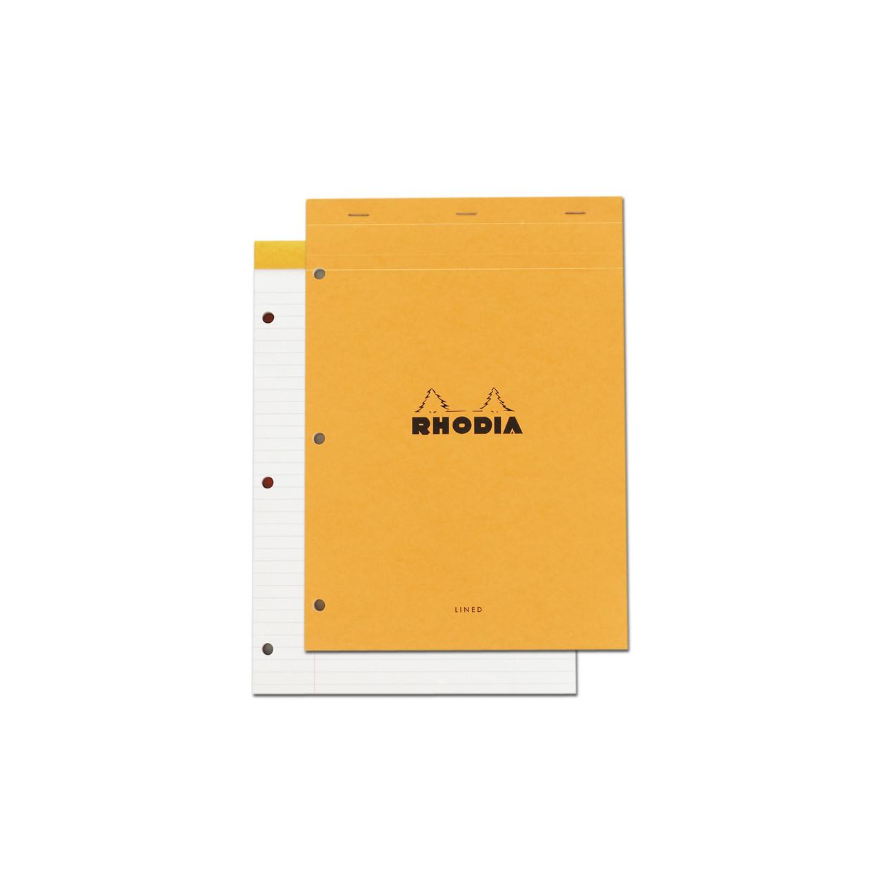 Rhodia Pad N° 18 8.25x11.75 3-Hole Lined Orange