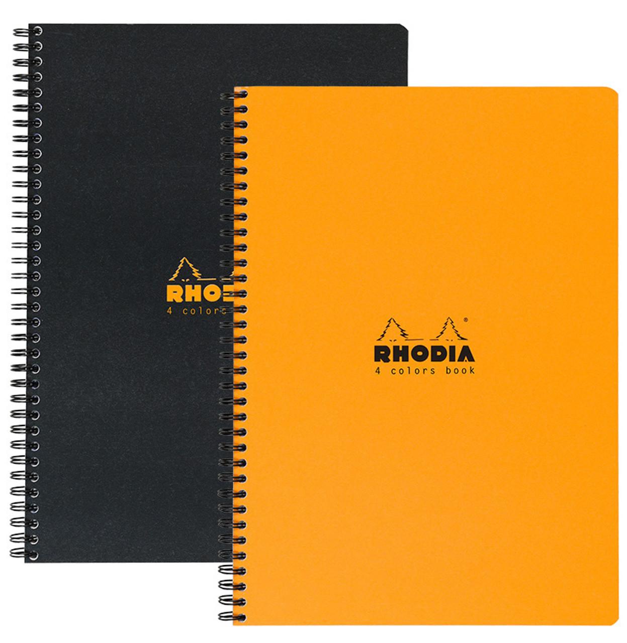 Rhodia 4-Color Book 9x11.75 Lined Orange