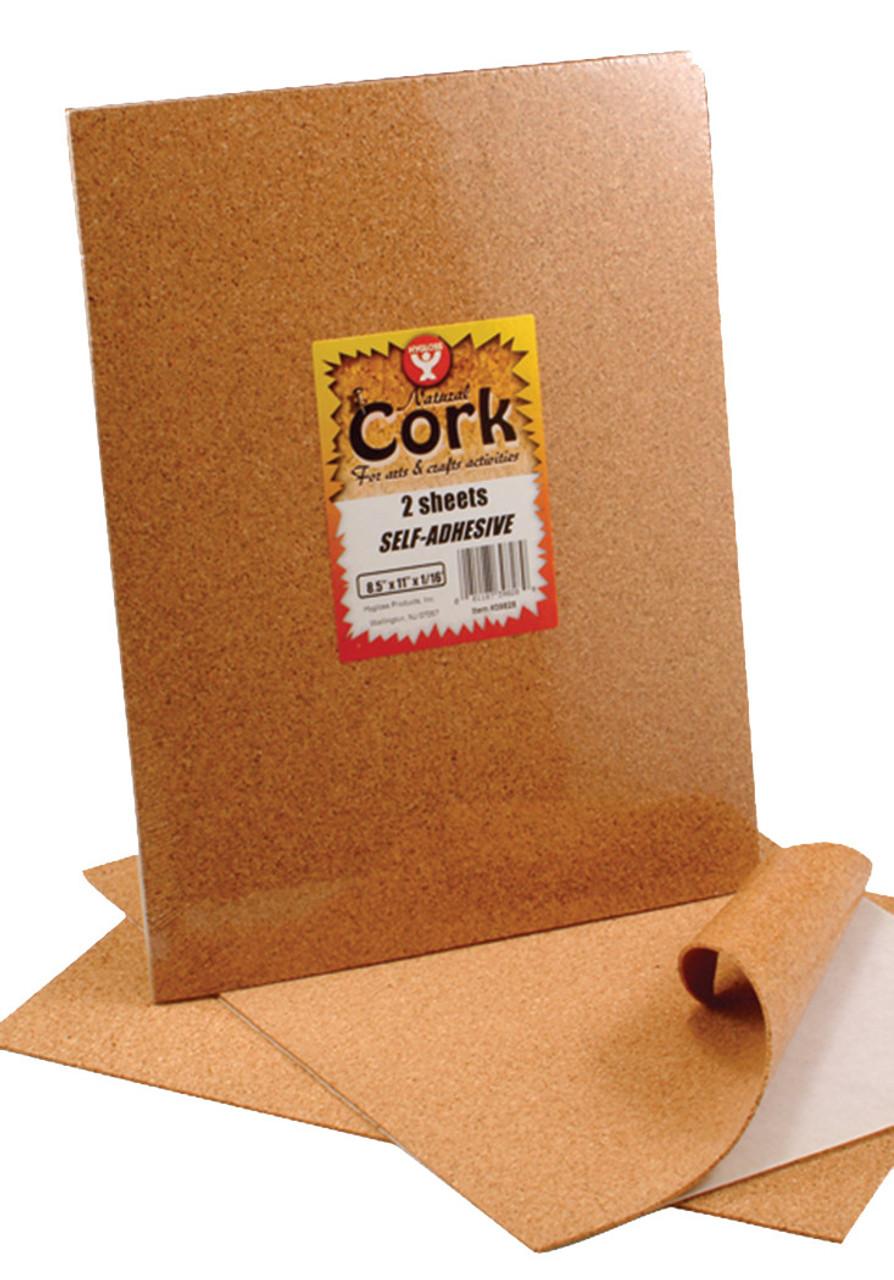 Hygloss Self-Adhesive Cork Sheet 2pk 8.5in x 11in
