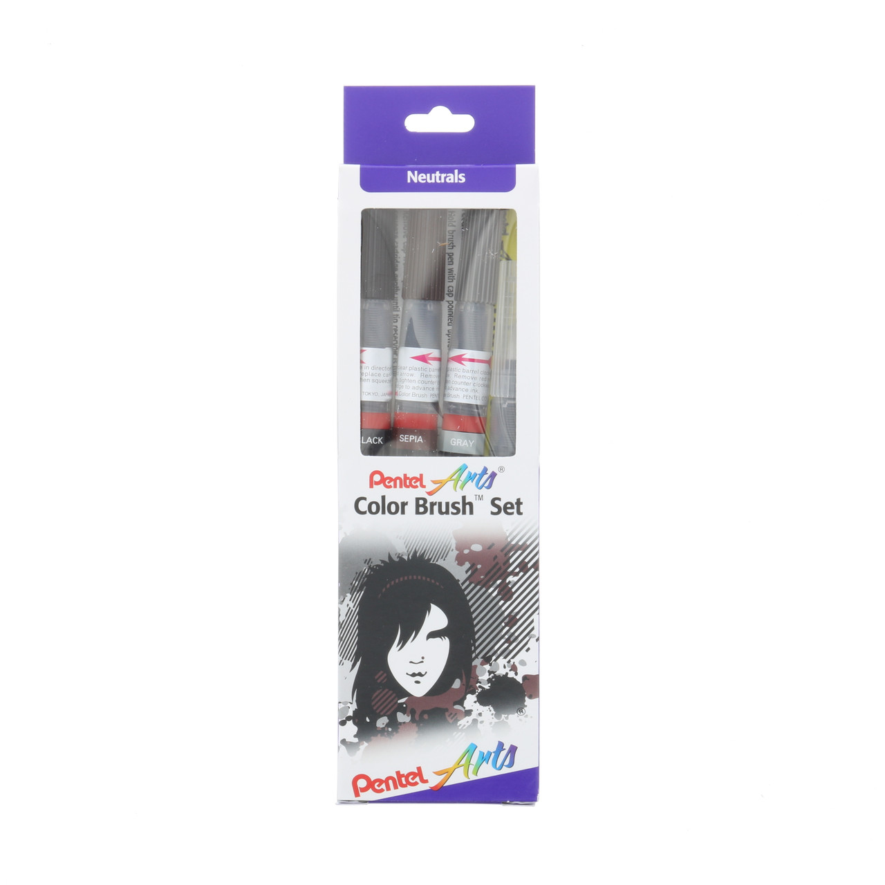 Pentel Color Brush Set