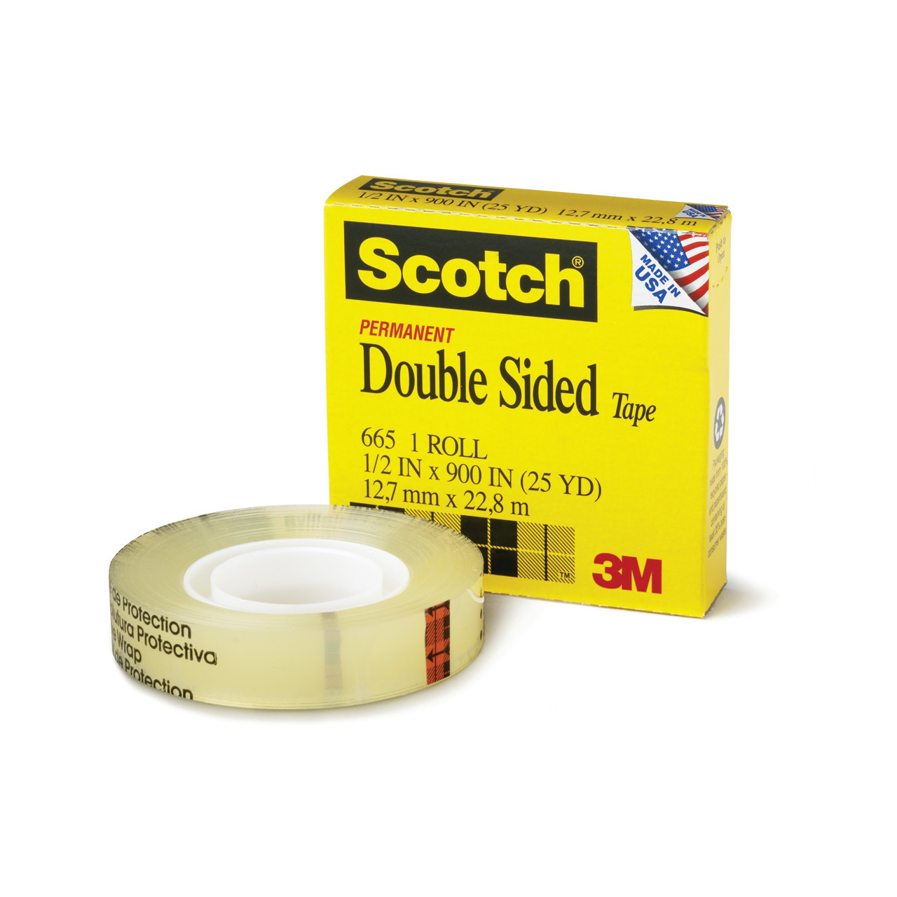 #665 Scotch Double-Coated Tape 1/2in x 36yd