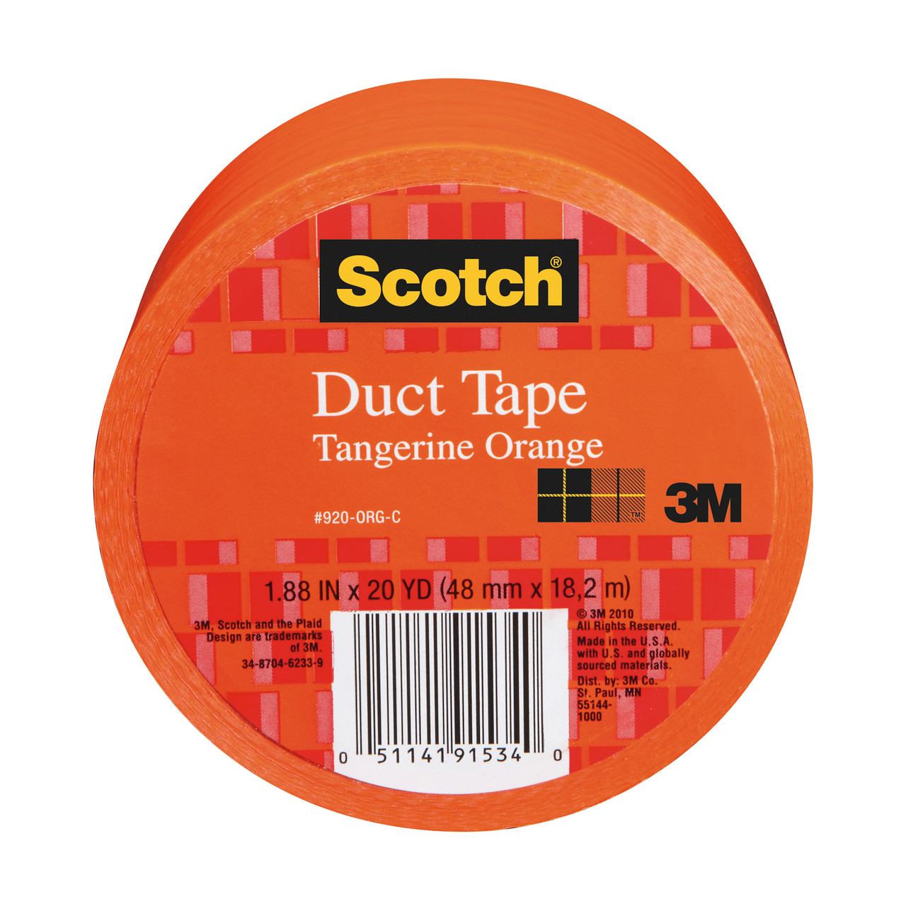 Scotch Duct Tape for Artists Orange 1.88in x 20yd