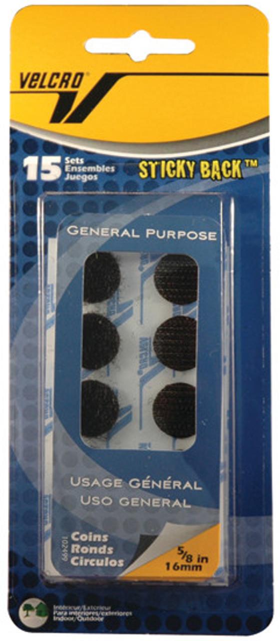 Velcro Tape 5/8in Coins Black