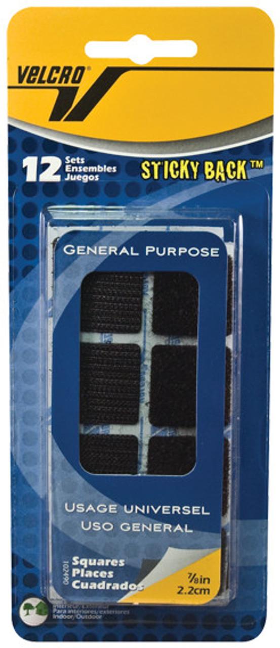 Velcro Tape 7/8in Squares Black