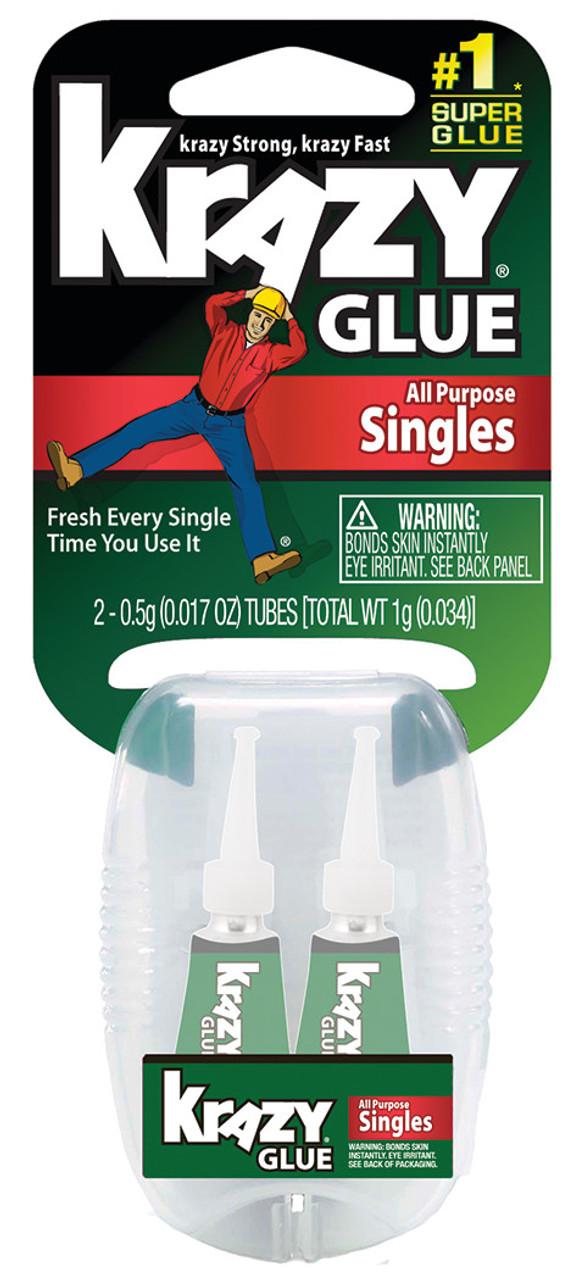 Instant Krazy Glue All-Purpose Single Use Tube