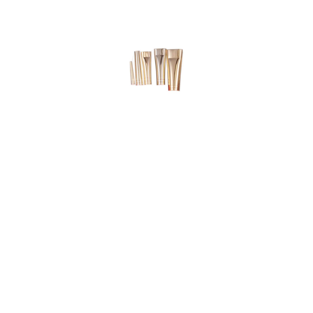 Synthetic White Taklon 5-Brush Set Round 1, 6, Bright 6, Filbert 8, Flat 12