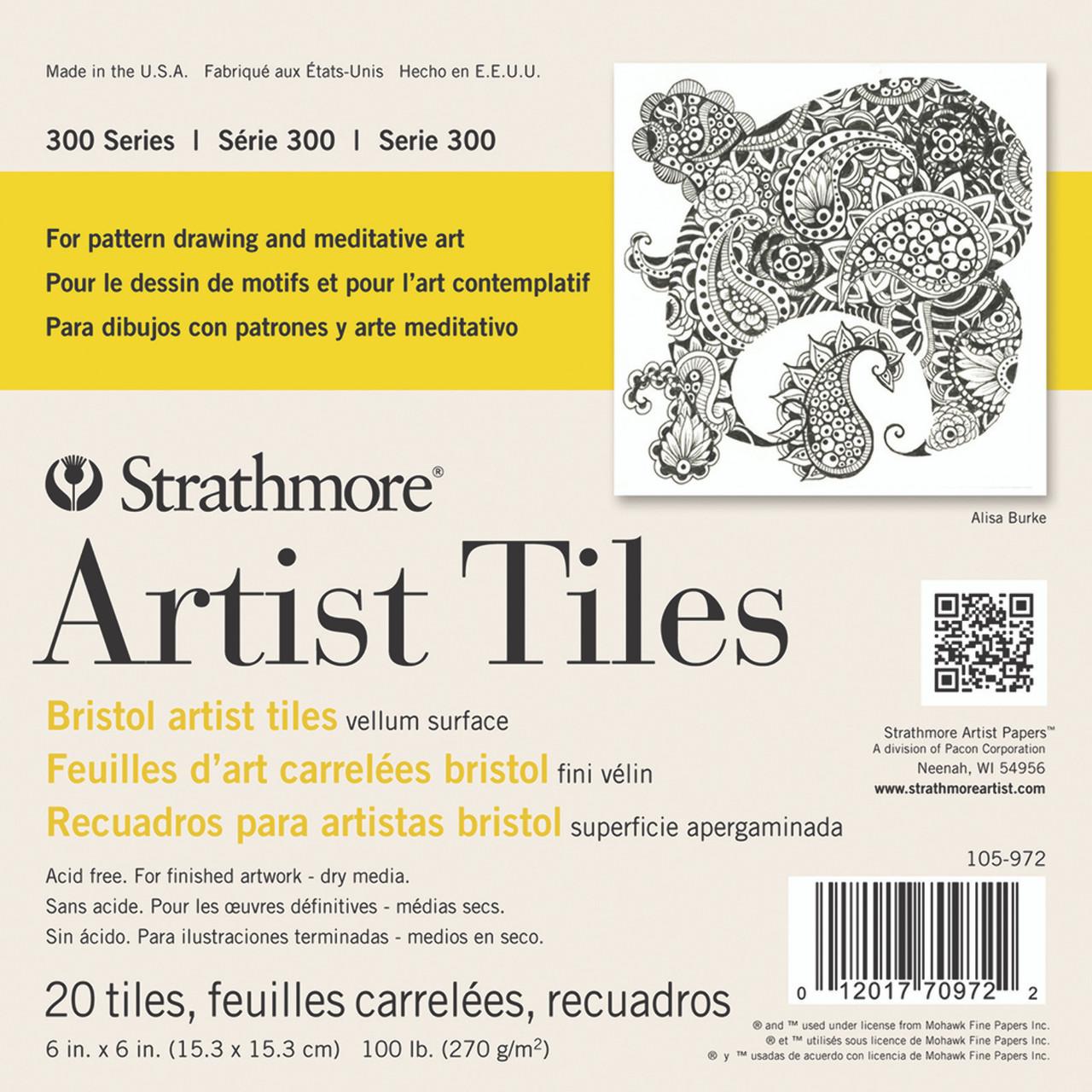 Artist Tiles 6 x 6 Bristol Vellum