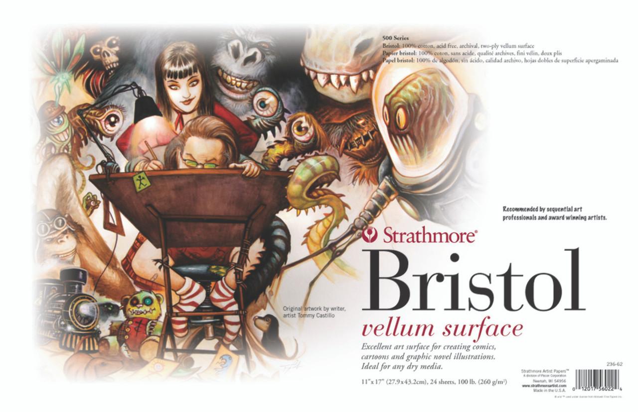 Sequential Art Bristol Paper Sheet Series 500 11 x 17 2-Ply Vellum