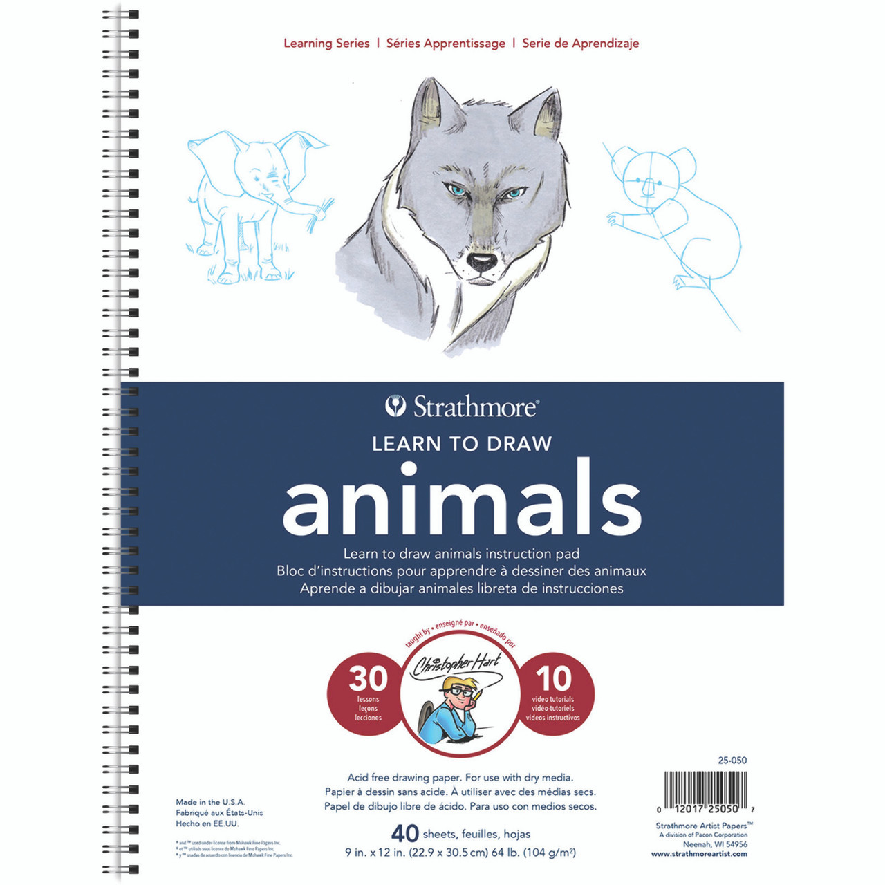 Learning Series Drawing Pad 9 x 12 Animals