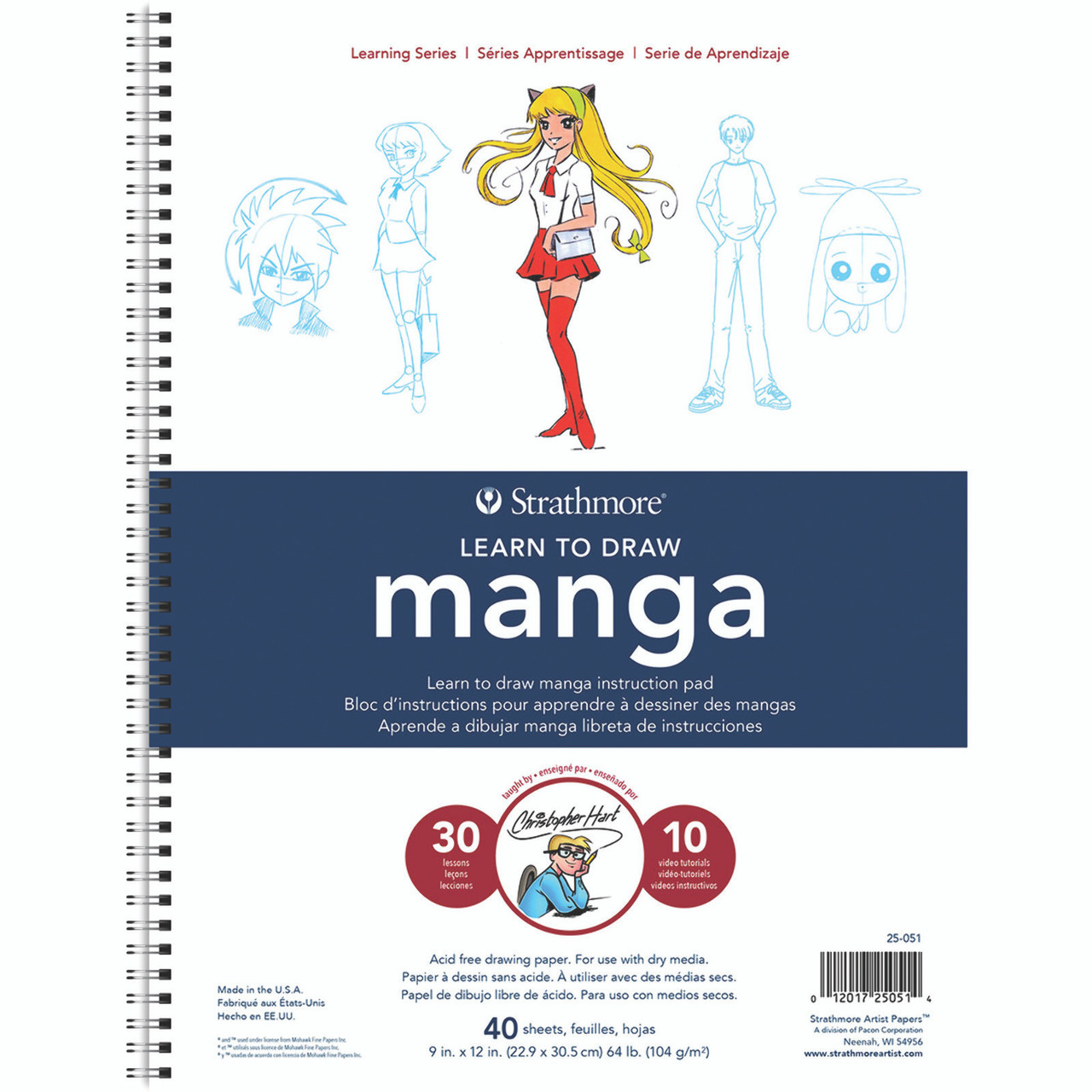 Learning Series Drawing Pad 9 x 12 Manga