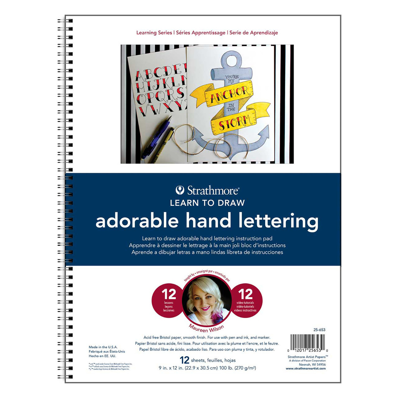 Learning Series Adorable Hand Lettering Pad 9 x 12